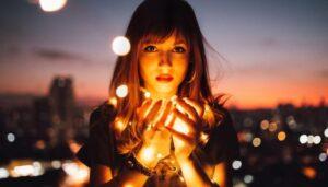 https://www.pexels.com/photo/woman-holding-fireflies-573299/